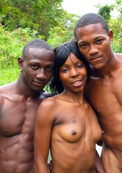 Home made sex, young black couple
