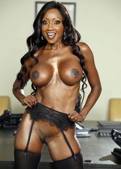 Charming leggy black ladies with juicy..
