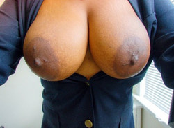 Closeup selfies of big brown boobs..