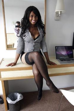 Smiley ebony ladies undressing for new..
