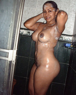 Charming ebony goddes squeezing big..