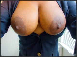 Black boobs close up